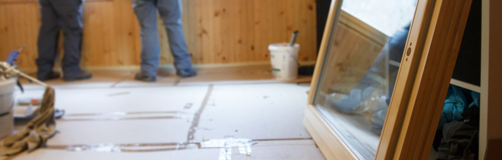 Preparing a home in New Jersey for window replacement and new window replacement.